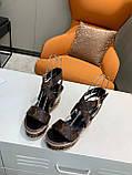 Босоножки Луи Витон кожаная реплика, фото 2