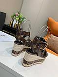 Босоножки Луи Витон кожаная реплика, фото 3