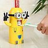 Тримач дозатор для зубної щітки і пасти міньйон
