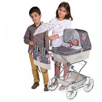"Коляска для куклы DeCuevas ""Reborn"" 82031 (90-40-90см), классика, сумка, корзинка,зонт 11/83.8"