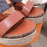 Босоножки Луи Витон на платформе кожаная реплика, фото 8