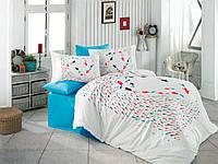 Красивое подарочное постельное белье Hobby Турция Евро 200*220 Поплин Хлопок