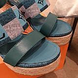 Босоніжки Луї Вітон на платформі шкіряна репліка, фото 3