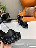 Босоніжки Луї Вітон на платформі шкіряна репліка, фото 4