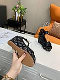 Босоніжки Луї Вітон на платформі шкіряна репліка, фото 7