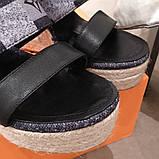 Босоніжки Луї Вітон на платформі шкіряна репліка, фото 2