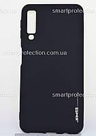 Бампер  для Samsung A7 2018 черный SMTT Soft Touch