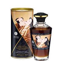 Разогревающее съедобное масло Shunga APHRODISIAC WARMING OIL - Creamy Love Latte Сливочный любовный латте (100 мл) Шунга. Массажные масла и кремы