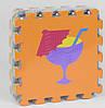 Килимок-пазл EVA НКР 019 (24) масажний, 9шт в упаковці, 30х30см