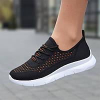 Мокасины черные женские на шнурках кроссовки светлые летние (Код: Р1733)