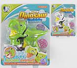 Пістолет з мильними бульбашками Динозавр механічний, фото 3