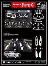 Хром накладки на панель Hyundai IX35 Tucson 2009-2014 (Autoclover/Корея/C358)