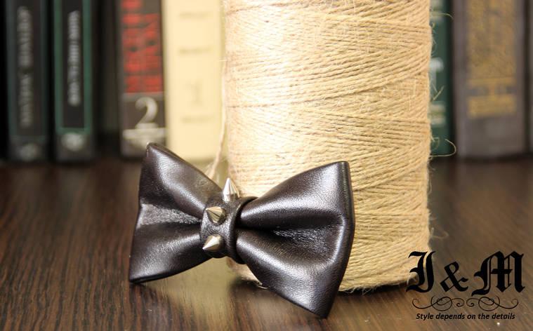 Кожаная галстук-бабочка I&M (010844) Thorns, фото 2