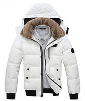 Теплая мужская куртка. Мужская куртка с капюшоном. Черная и белая.