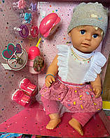 Кукла сестра Беби Борн Baby Born Sister BLS002b, ноги на шарнирах, стоит, кофта, юбка, штаны, аналог