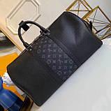 Дорожня сумка Луї Вітон Keepall 45, шкіряна репліка, фото 3