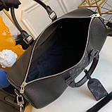 Дорожня сумка Луї Вітон Keepall 45, шкіряна репліка, фото 4