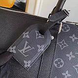 Дорожня сумка Луї Вітон Keepall 45, шкіряна репліка, фото 6