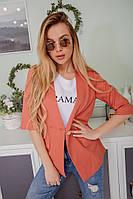 Женский стильный пиджак из льна на лето