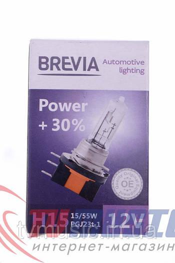Лампа галогенная Brevia H15 Power +30% (12015PC)