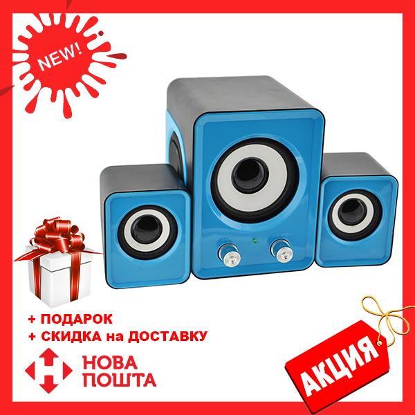 Голубые компьютерные колонки акустика IS 12 220v | акустические мощные колонки | музыкальная колонка