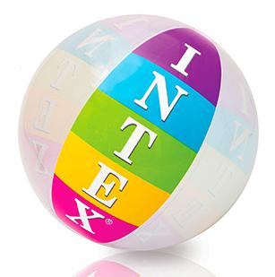 Детский большой надувной мяч Intex 59060SH 91 см, винил   мячик для ребенка