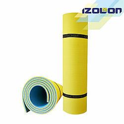 "Коврик двухслойный туристический IZOLON ""Optima Plus "" (1800 х 600 х 8 мм.) ,  резинки в комплекте."