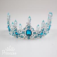 Царская корона для девочки с синими камнями