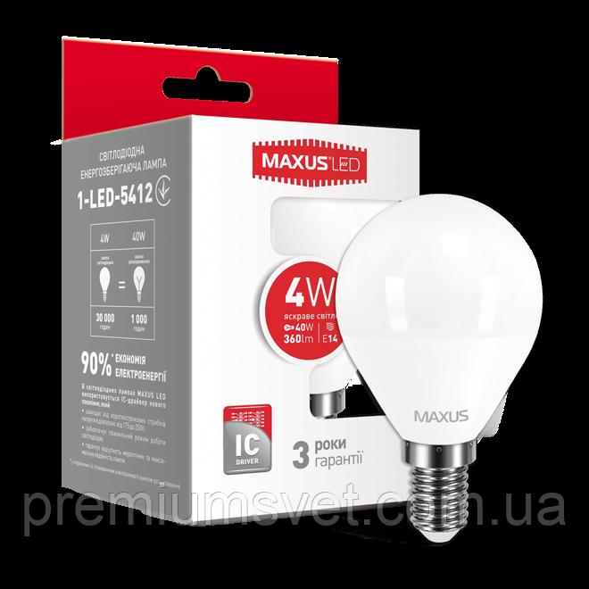 Лампочка светодиодная  1-LED-5412 G45 F 4W 4100K 220V E14