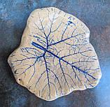 Тарілка Лист велика синє тонування, фото 2