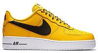 """Мужские Кроссовки Nike Air Force 1 Low NBA """"Yellow Amarillo"""" - """"Желтые Белые Черные """", фото 1"""