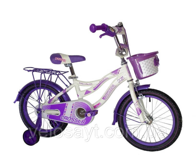 """Детский велосипед Crosser Kiddy 20"""" фиолетовый"""
