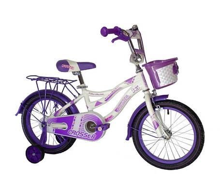 """Детский велосипед Crosser Kiddy 20"""" фиолетовый, фото 2"""