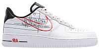 """Мужские Кроссовки Nike Air Force 1 Low """"Script Swoosh"""" - """"Белые Черные"""", фото 1"""