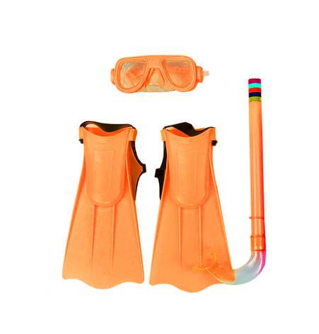 Набор для плавания детский Intex M0025 (маска, трубка, ласты), фото 2