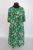 Комфортное летнее платье из натурального льна в стиле бохо