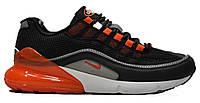 """Мужские Кроссовки Nike Air Max Hybrid 270 / 97 """"Black Grey Orange"""" - """"Черные Серые Оранжевые"""" (Копия ААА+), фото 1"""