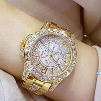 Часы женские нарядные наручные под золото Bee Sister 1158 All Gold Diamonds