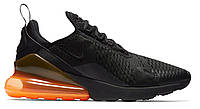 """Мужские Кроссовки Nike Air Max 270 """"Black Total Orange"""" - """"Черные Оранжевые"""" (Копия ААА+), фото 1"""