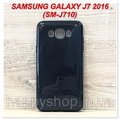 Блестящий чехол для Samsung Galaxy J7 2016 (SM-J710) Черный