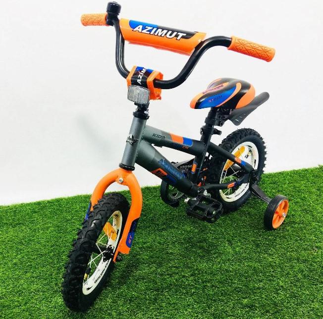 """Дитячий велосипед Azimut Stitch 12"""" помаранчевий"""