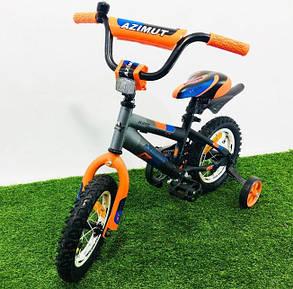 """Дитячий велосипед Azimut Stitch 12"""" помаранчевий, фото 2"""