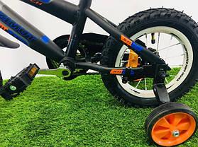 """Дитячий велосипед Azimut Stitch 12"""" помаранчевий, фото 3"""