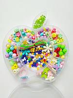 """Набор бусин для создания детских украшений """"Яблоко"""""""