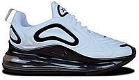 "Мужские Кроссовки Nike Air Max 720 ""White Black"" - ""Белые Черные"" (Копия ААА+)"