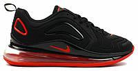 """Мужские Кроссовки Nike Air Max 720 """"Black Red"""" - """"Черные Красные"""" (Копия ААА+)"""