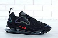 """Мужские Кроссовки Nike Air Max 720 """"Black Violet Hameleon"""" - """"Черные"""" (Копия ААА+), фото 1"""