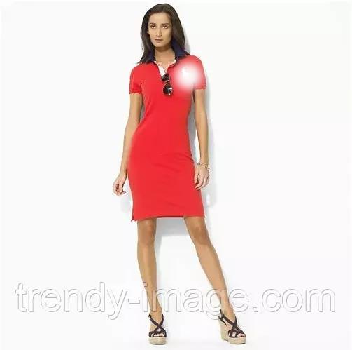 В стиле Ральф женское платье поло 100% хлопок