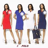 В стиле Ральф женское платье поло 100% хлопок, фото 3