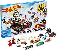 Адвент календарь Hot Wheels  Advent Calendar Vehicles Хот Вілс с машинками